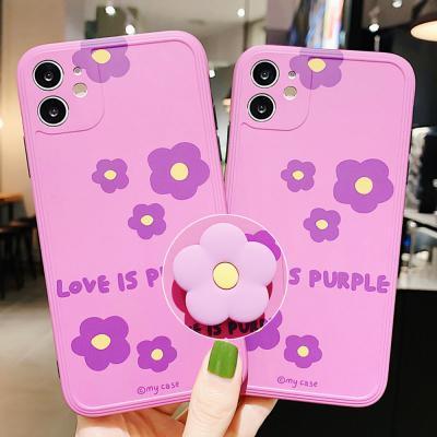 아이폰 se2 11 pro max xr xs 8 7 매트 플라워 귀여운 그립톡 세트 카메라보호 풀커버 실리콘 범퍼 케이스