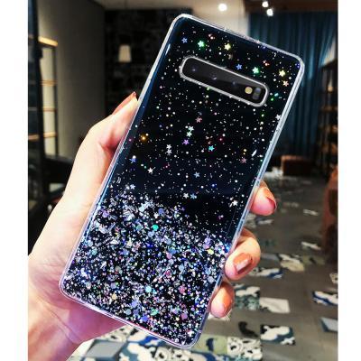 갤럭시 s20 울트라 s10 + 노트10 노트9 블링블링 화려한 글리터 슬림 범퍼 예쁜 투명 젤리 핸드폰 케이스