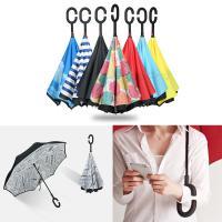 예쁜 거꾸로 우산/양산 겸용 반전 장우산/C형 손잡이/반대로 접히는 아이디어 상품/튼튼한 기능성 우산