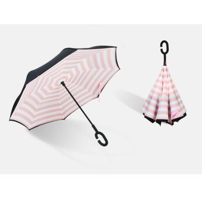 C형 거꾸로 컬러 패턴 우산