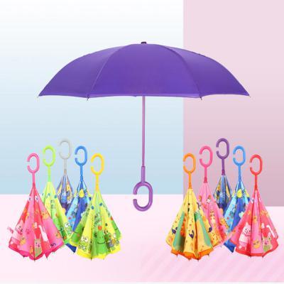 귀여운 캐릭터 거꾸로 우산/C형 손잡이/경량 양산 겸용 아이디어 기능성 우양산/튼튼한 예쁜 장우산