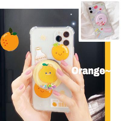 아이폰se2 11 pro max xr xs 8 7+ 귀여운 과일 아쿠아 글리터 그립톡/커플 캐릭터 투명 젤리 범퍼 케이스