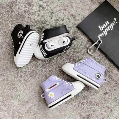 에어팟 1/2/3/프로 특이한 3D 커플 국화 신발 충전 케이스/귀여운 무선 이어폰 커버/철가루스티커