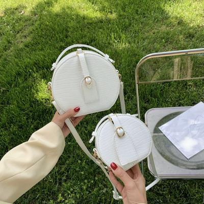 크로커다일 악어무늬 미니 크로스 탬버린 백/핸드폰 휴대폰 수납/예쁜 캐주얼 데일리 여성가방