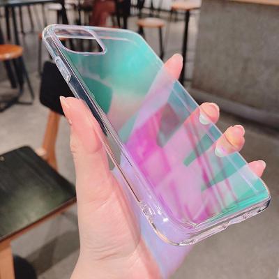 아이폰11 프로 맥스 xr xs se2 8 7 예쁜 오로라 홀로그램 반투명 범퍼 젤리케이스