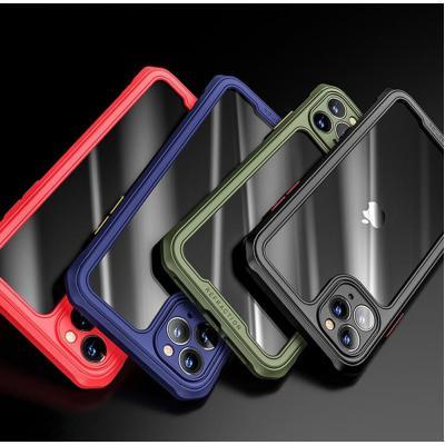 아이폰11/11프로/11프로맥스 xr xs max 컬러 사각 에어백 범퍼 투명 하드 케이스