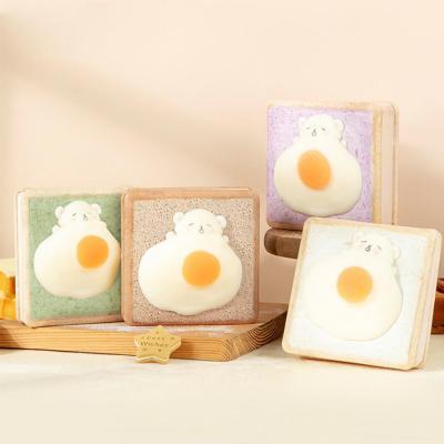 귀여운 3D입체 말랑말랑 곰돌이계란 캐릭터 스퀴시/예쁜 식빵 다이어리/다꾸 노트/일기장/메모장