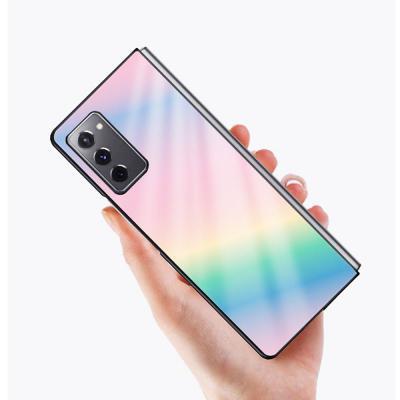 갤럭시Z폴드2 5G 그라데이션 컬러/예쁜 디자인 스킨/고강도 강화유리/슬림 하드/갤럭시폴더2 핸드폰 케이스