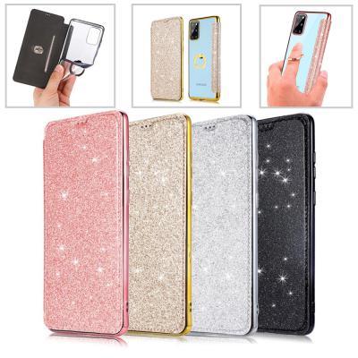 아이폰12 미니 11 pro max xr xs 8 7 플러스 핑거링 투명 젤리/반짝이 카드수납 플립 케이스