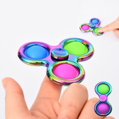 메탈 3색 푸시팝 스피너 피젯 토이 팝잇 뽁뽁이 휴대용 틱톡 말랑이 장난감/스트레스 해소