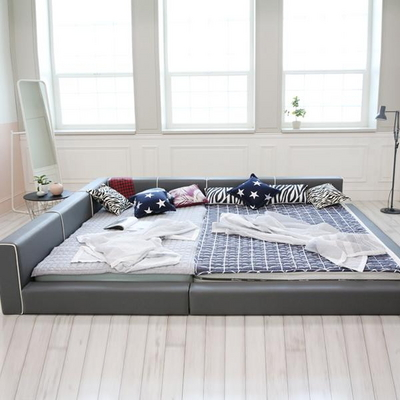 로이 패밀리 저상형 라인 침대 세트 (슈퍼싱글/싱글)