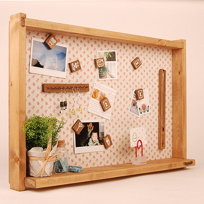 셋트)원목린넨메모판+나무자석