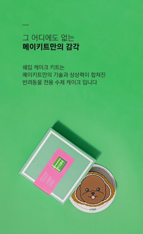 강아지 모양 케이크 푸들 SHAPE CAKE KIT - 메이키트, 16,900원, 간식/영양제, 수제간식