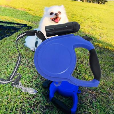 강아지목줄 LED 자동 리드줄 5M 훈련클리커 1개포함