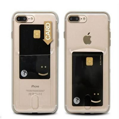 갤럭시 노트8 클리어 히트 카드포켓 젤리 휴대폰 케이스