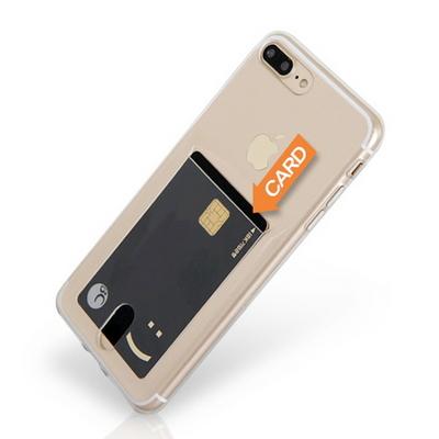 갤럭시 노트9 클리어 히트 카드포켓 젤리 휴대폰 케이스
