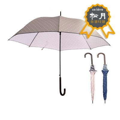 송월우산 스누피 장우산 도트 곡자