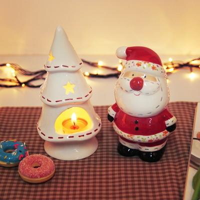 크리스마스 산타 트리 촛대세트 (캔들 홀더)