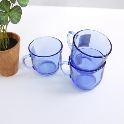 프랑스 블루 에메랄드 유리컵 2set