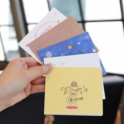 생일축하감사 미니카드(트레싱지 카드봉투)ver2