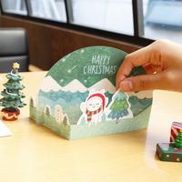 스노우볼 크리스마스 입체카드 4종 1세트