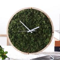 숲앤숨_원목 스칸디아모스 벽시계(30cm)-모스그린