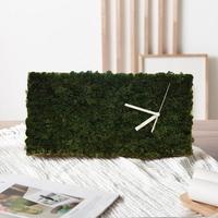 숲앤숨_모스 벽시계(40x20cm) - 모스그린