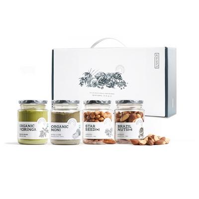 착한습관 베스트 슈퍼푸드 4종 선물세트 (유기농모링가 유기농노니 브라질너트 사차인치)