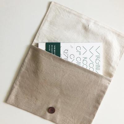 단추 북파우치 (button book pouch) - natural