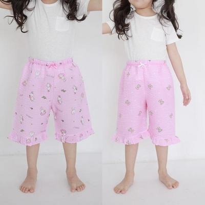 100404 아동파자마 여자아이 7부 반바지 잠옷바지 홈웨어 랜덤