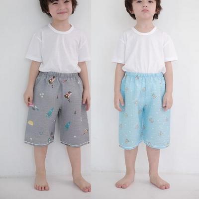 100405 아동파자마 남자아이 7부 반바지 잠옷바지 홈웨어 랜덤