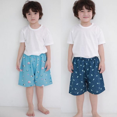 100408 아동파자마 5부 남자아이 반바지 잠옷바지 홈웨어 레이온 랜덤