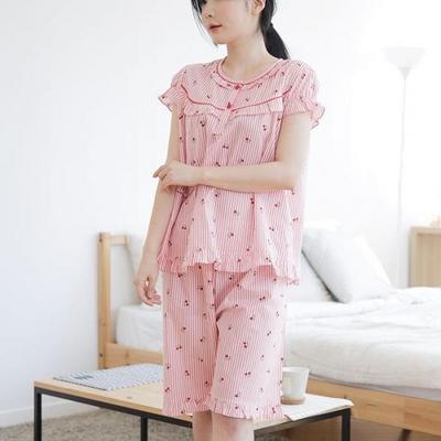 100517 여자잠옷 반팔잠옷 여름파자마 면 60수 여름잠옷