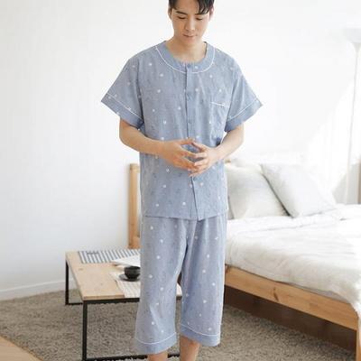 100521 남자잠옷 반팔 여름파자마 7부바지 홈웨어