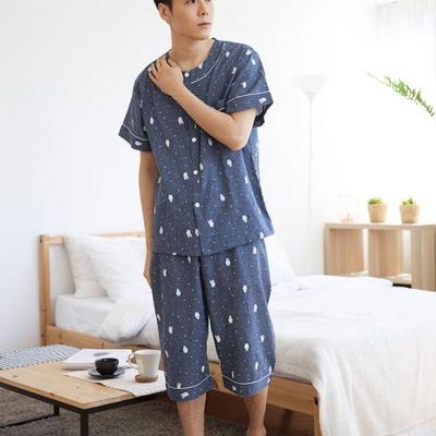 100526 남자잠옷  반팔 여름파자마 7부바지 홈웨어
