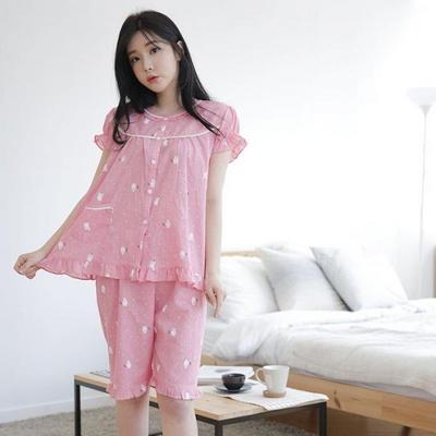 100527 여자잠옷  반팔 여름파자마  홈웨어 반팔파자마
