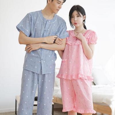 100523 남자여자잠옷 커플잠옷 반팔 여름파자마  홈웨어