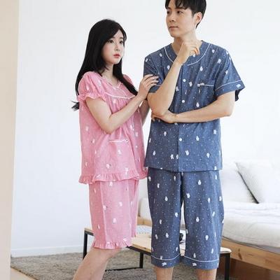 100528 남자여자잠옷 커플잠옷 반팔 여름파자마  홈웨어