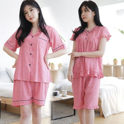100558 여자잠옷 반팔 여름잠옷 반바지파자마 홈웨어 레이온