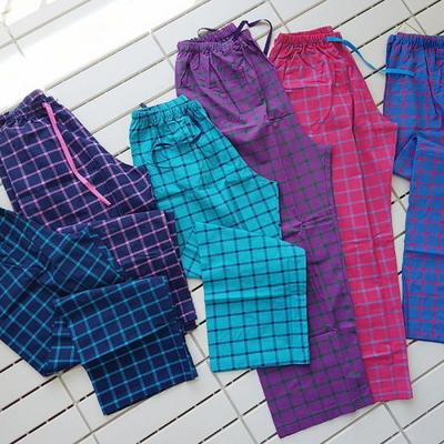 100577 남자여자 잠옷바지 9부 긴바지 파자마 면