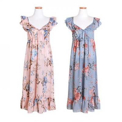 200147 여자 원피스잠옷 쉬폰 여름잠옷 반팔잠옷 쿠폰포함