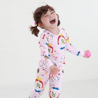 100683 아동내복 유아 홈웨어 잠옷 실내복 긴팔 편면
