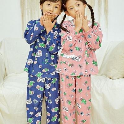 100699 아동잠옷 남자아이 여자아이 파자마 잠옷 초등학생 파티