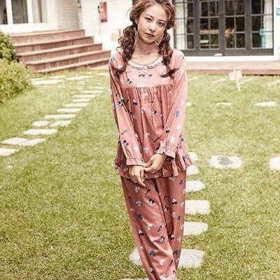 100719 여자잠옷 파자마파티 긴팔 면잠옷 가을겨울 잠옷