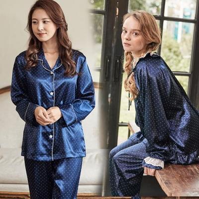 100716 여자잠옷 파자마파티 긴팔 샤무즈잠옷 가을겨울 잠옷