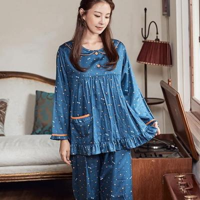 100713 여자잠옷 파자마파티 긴팔 면잠옷 가을겨울 잠옷