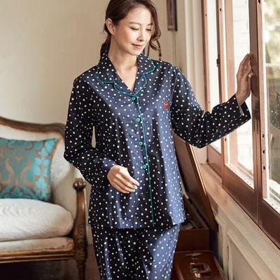 100707 여자잠옷 파자마파티 긴팔 면잠옷 가을겨울 잠옷
