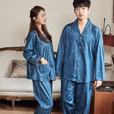 100711 남자여자잠옷 커플파자마 파자마파티 긴팔 면잠옷