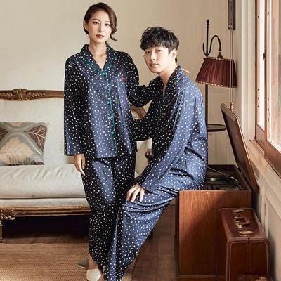 100705 남자여자잠옷 커플파자마 파자마파티 긴팔 면잠옷