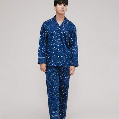 200226 남자잠옷 잠옷상하세트 면 잠옷 가을잠옷 긴팔잠옷 쿠폰